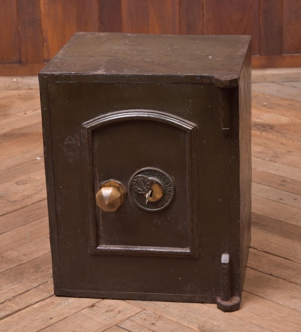 neat edwardian steel safe