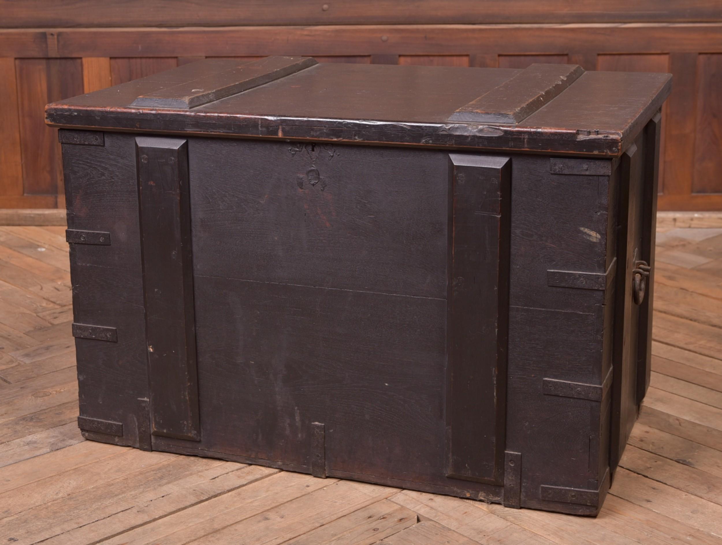 19th century teak storage chest trunk