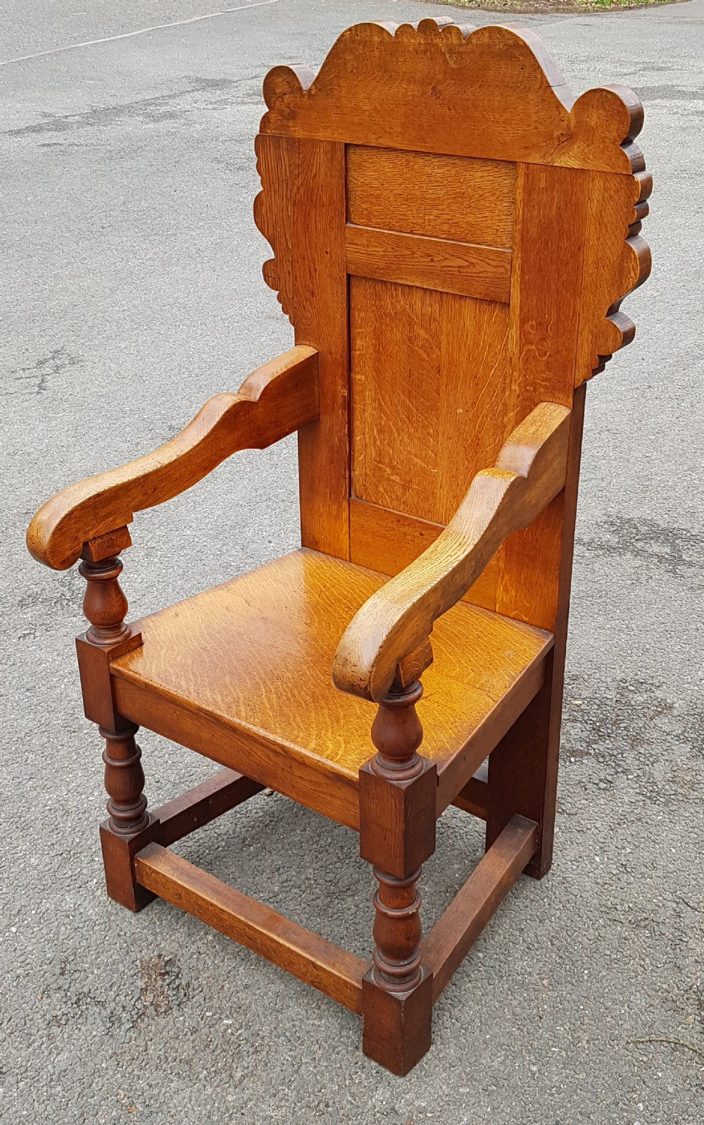 arts and crafts cotswold oak chair circa 1900