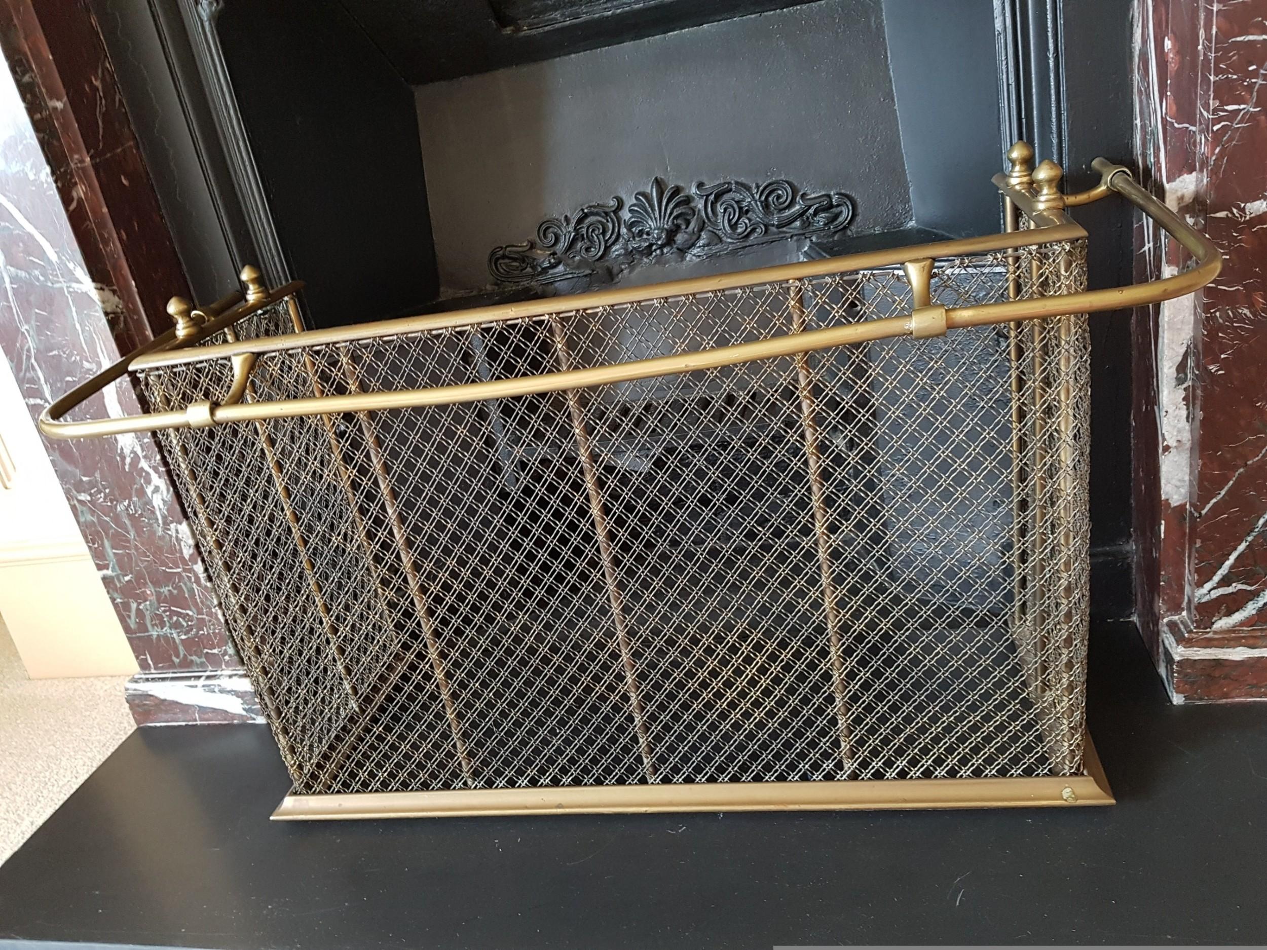 antique victorian brass nursery fender