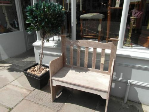 arts crafts oak garden bench 177739 sellingantiques co uk rh sellingantiques co uk