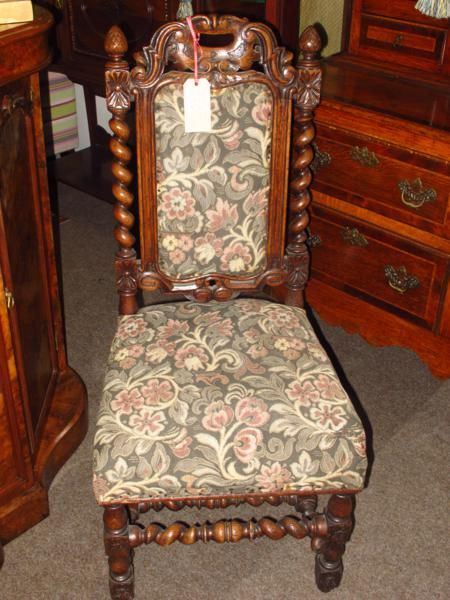 Victorian Oak Barley Twist Chair
