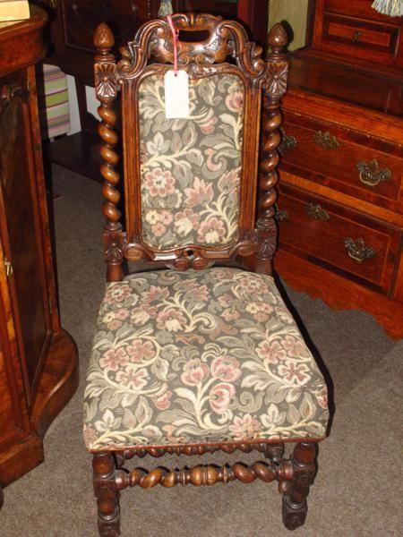 victorian oak barley twist chair & Victorian Oak Barley Twist Chair | 179372 | Sellingantiques.co.uk