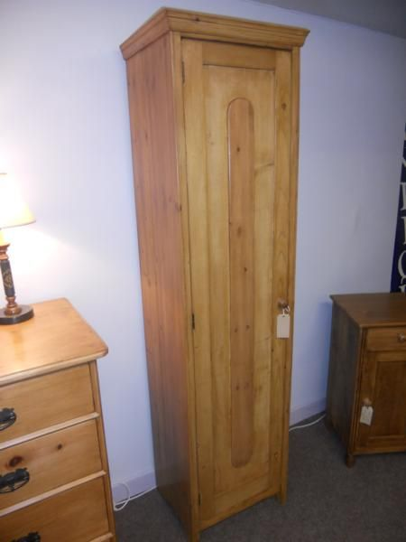 Tall Slim Pine Cupboard 200106