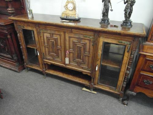 victorian walnut sideboard cabinet