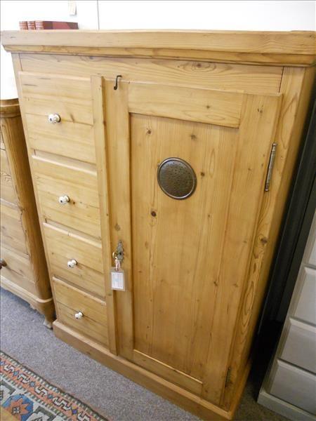 pine larder cupboard food safe - Pine Larder Cupboard / Food Safe 359693 Sellingantiques.co.uk