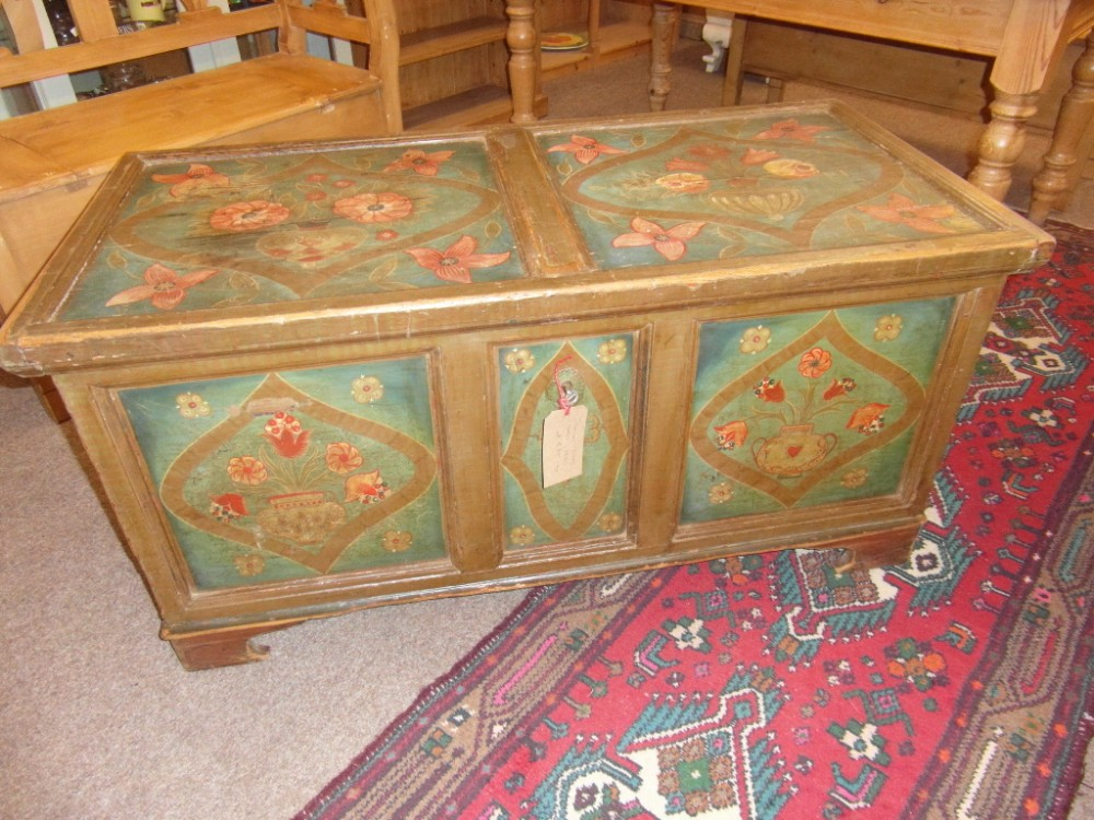 antique pine dowry chest 1823