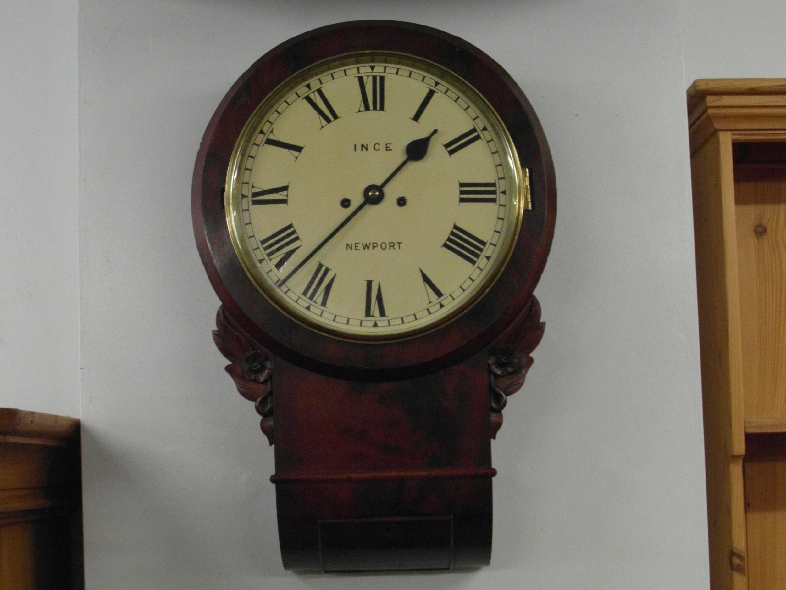 Victorian Double Fusee Drop Dial Wall Clock 560542