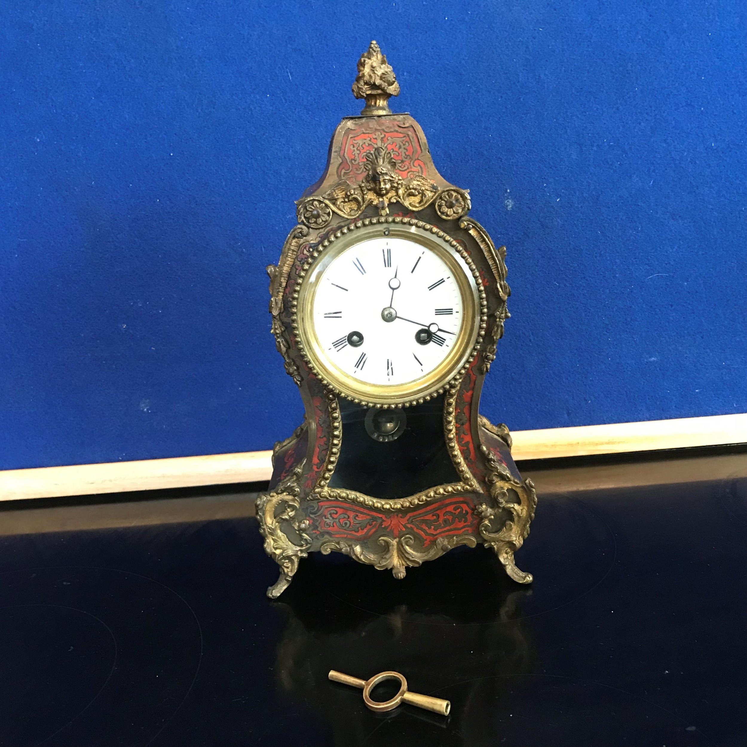 french buell mantle clock late georgian