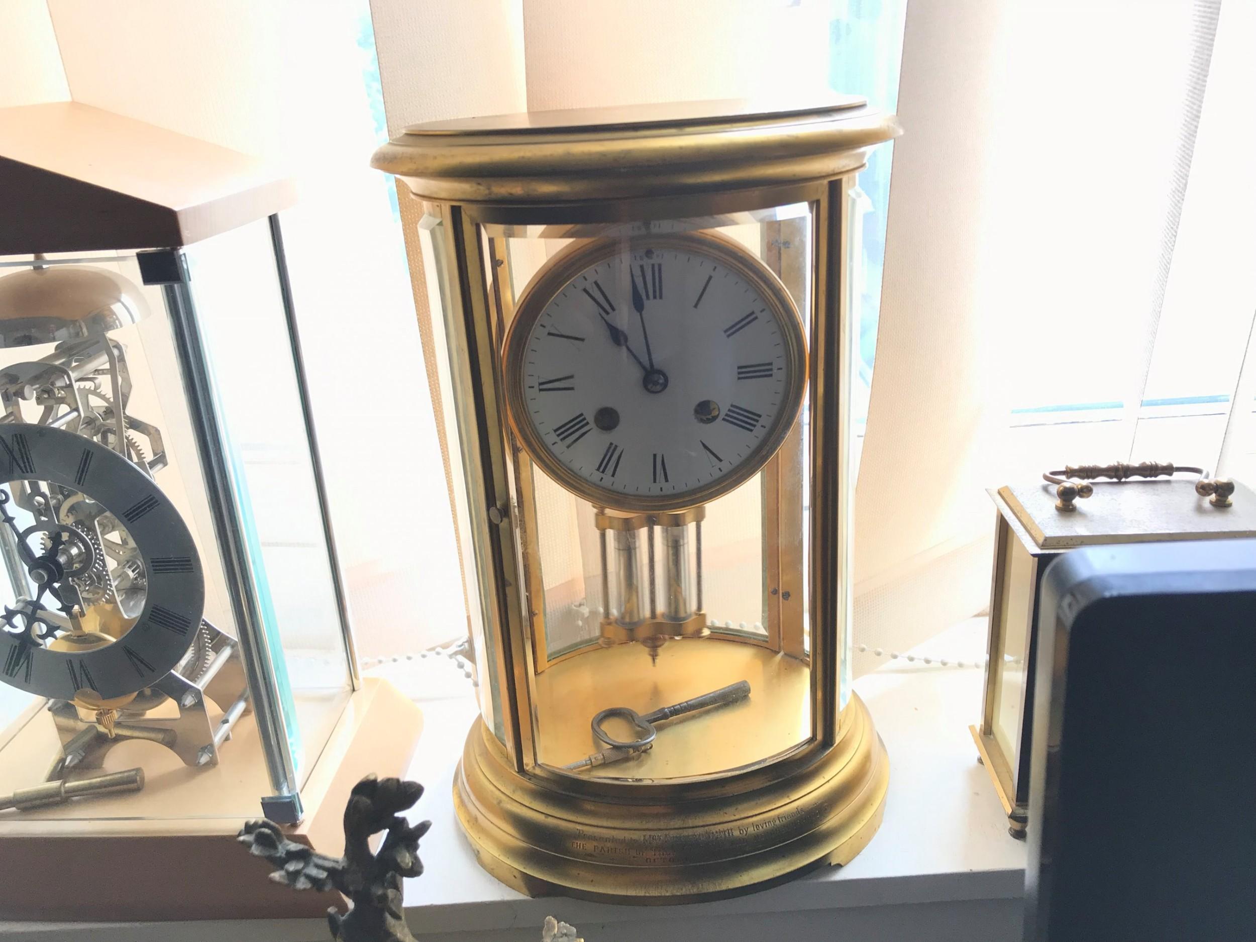 superb french bevelled glass japes frees victorian gilt framed clock