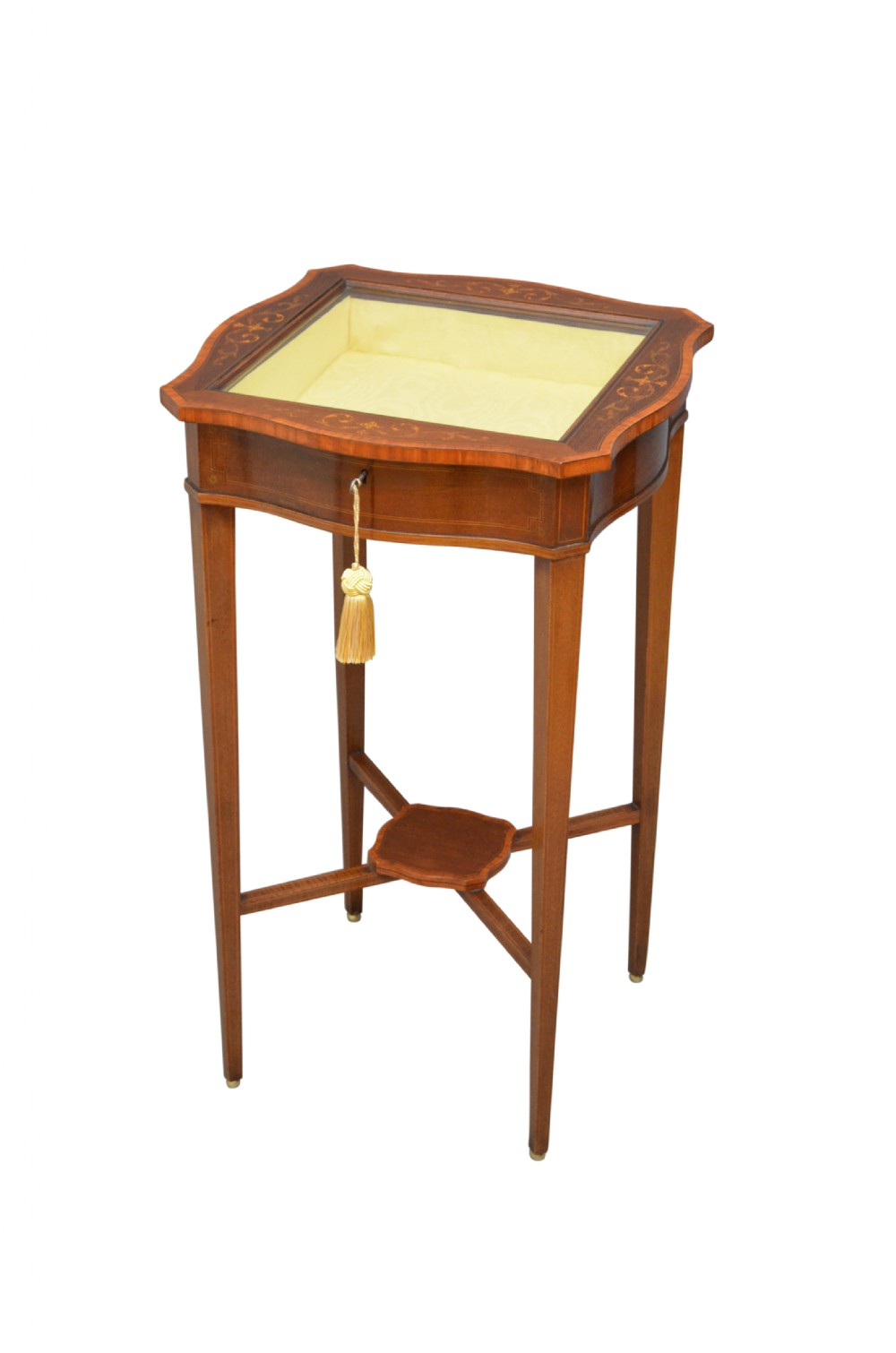 edwards and roberts mahogany and inlaid display table