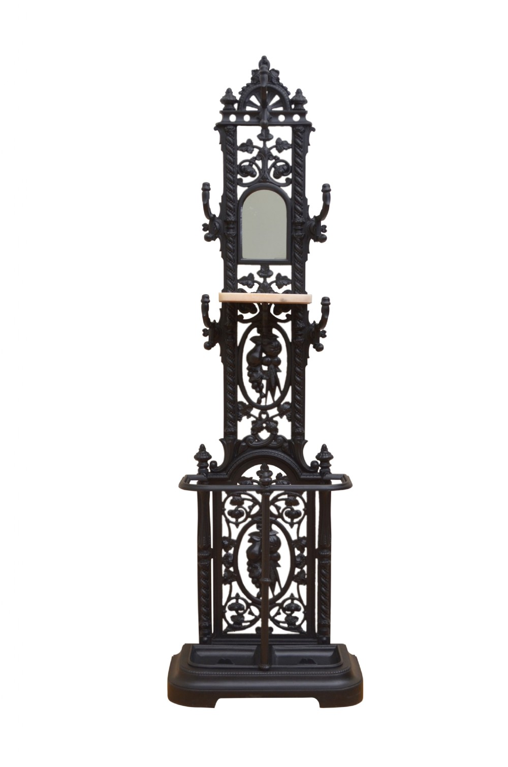 stylish victorian cast iron hall stand