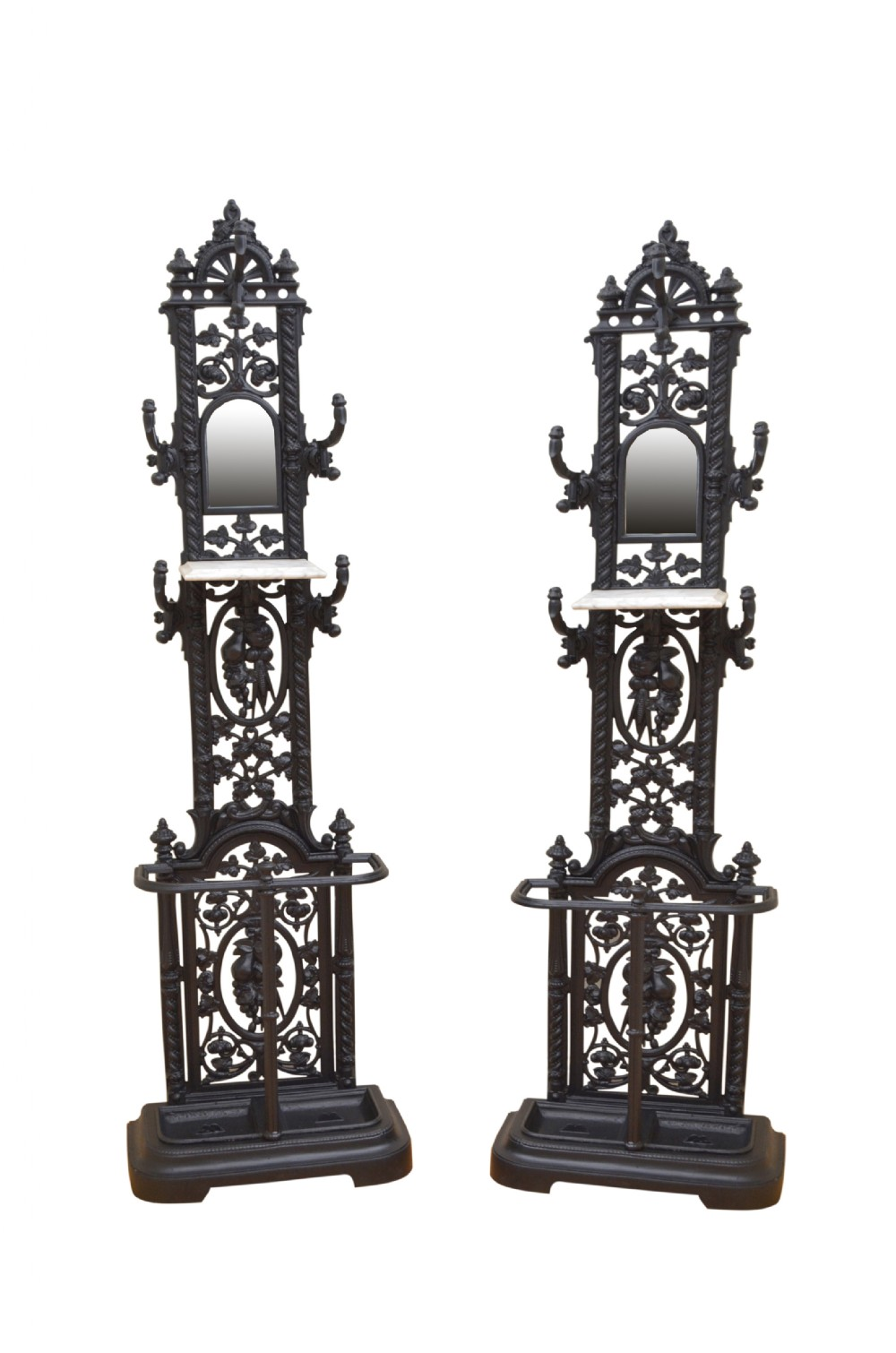 pair of victorian hall stands cast iron hall stand
