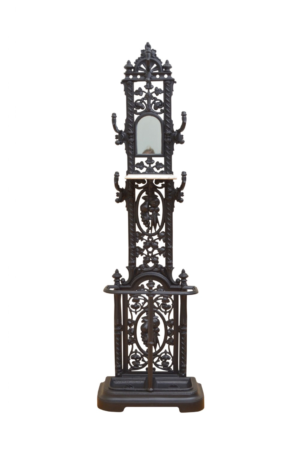 victorian hall stand cast iron