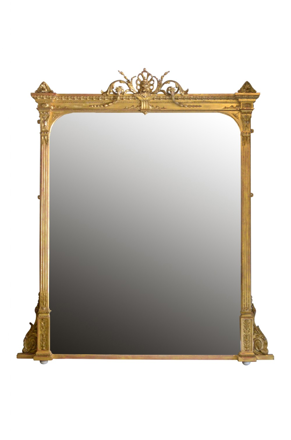 exceptional english giltwood mirror of large proportions