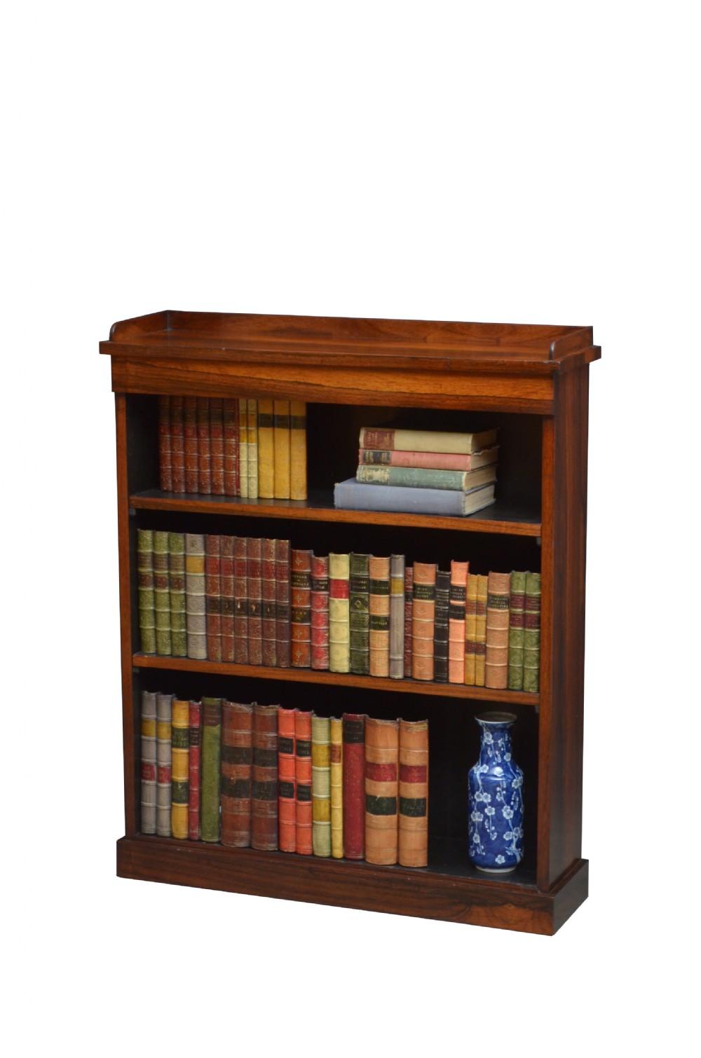 fine william iv rosewood open bookcase