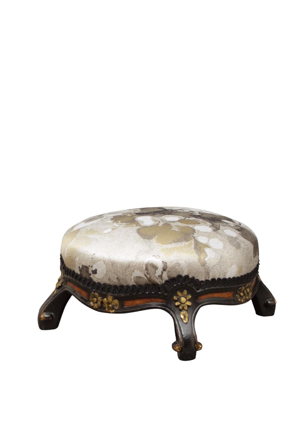 aesthetic movement footstool ebonised stool by marsh and jones