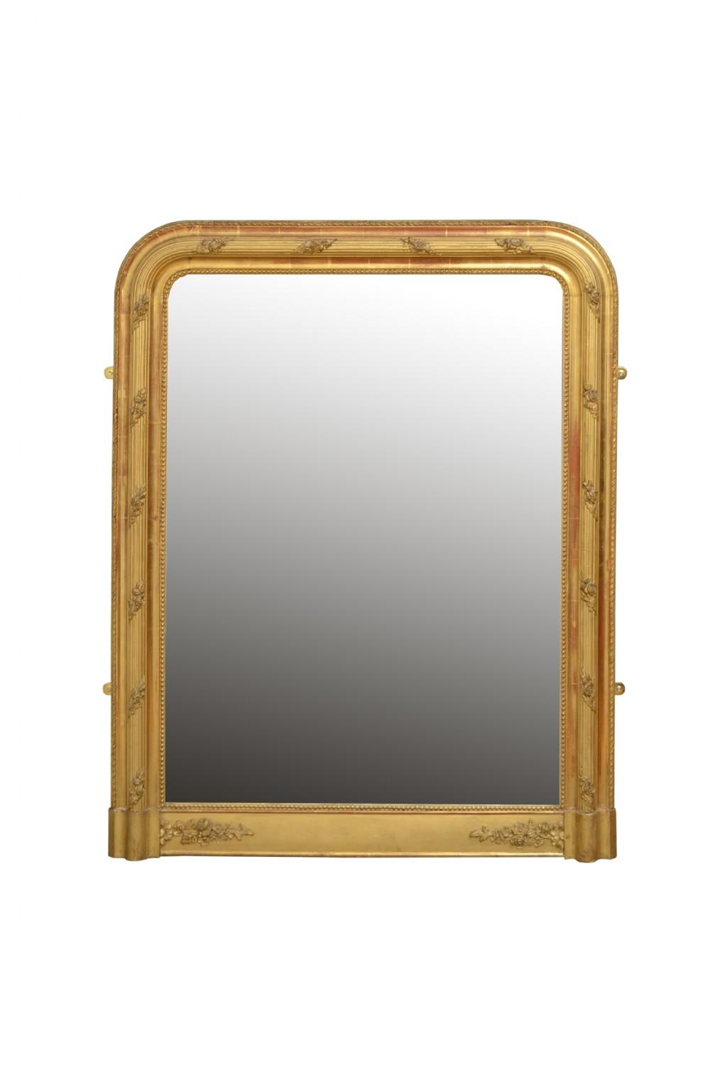 19th century french pier mirror gilt