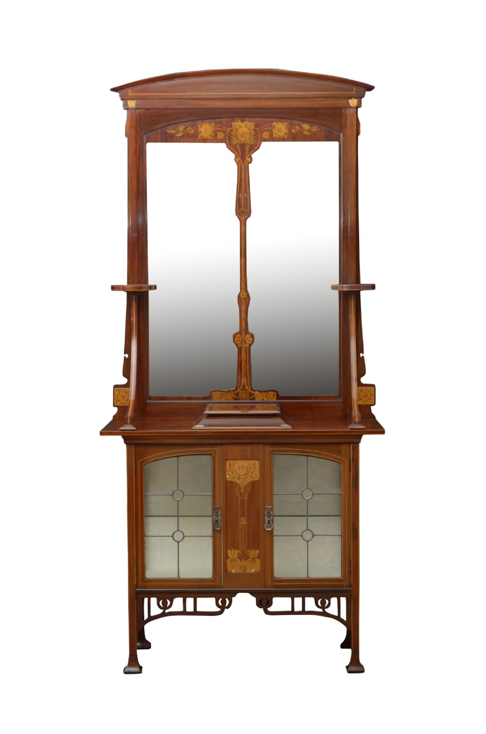 art nouveau cabinet stand with mirror