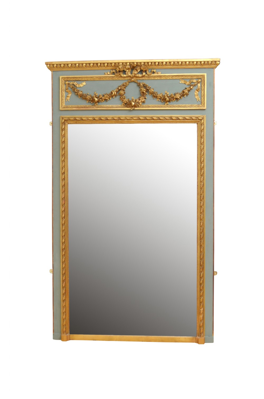 tall 19th century trumeau mirror h181cm