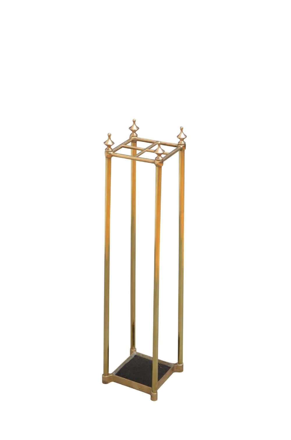 tall victorian brass umbrella stand