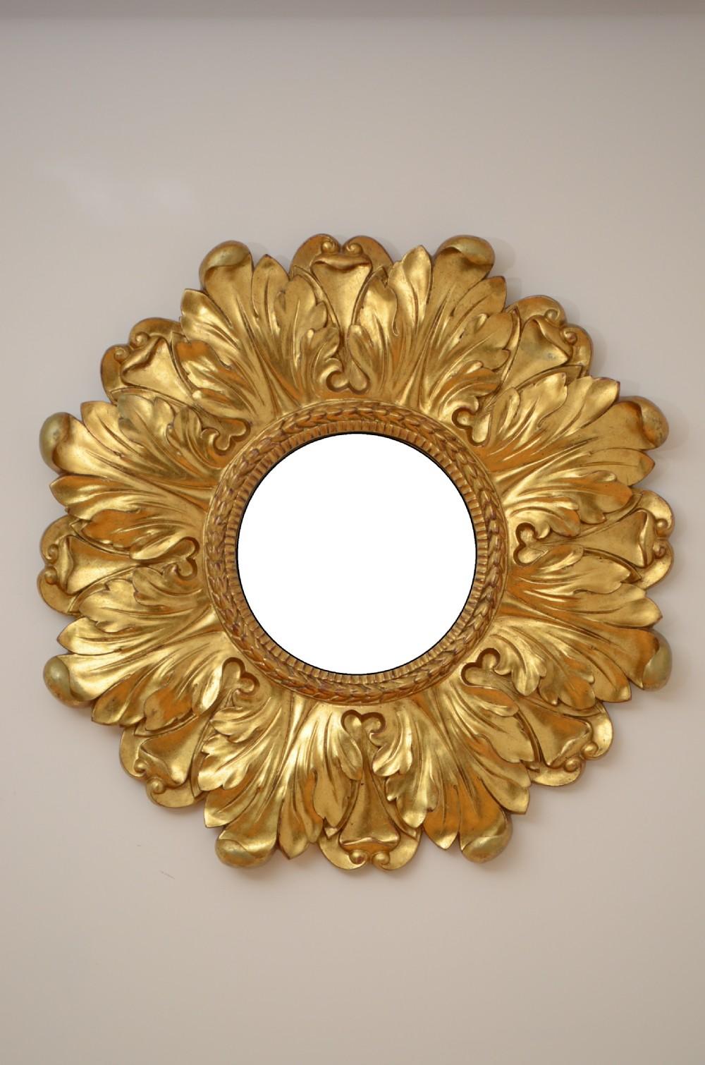 large sunburst gilt wall mirror 90cm