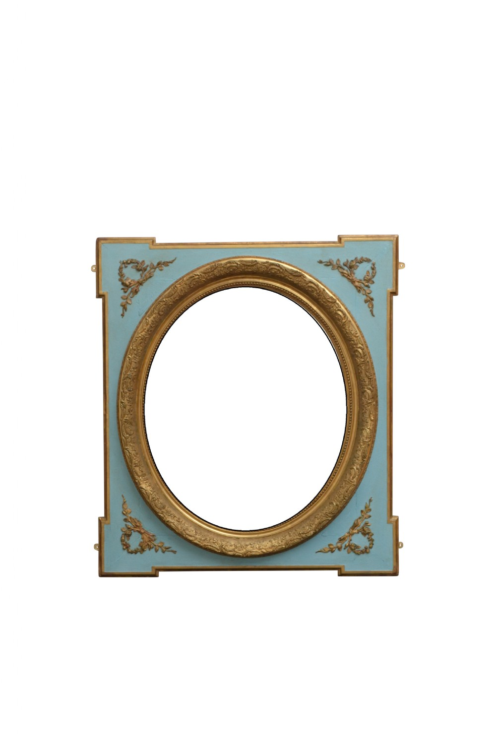 french painted and gilded wall mirror