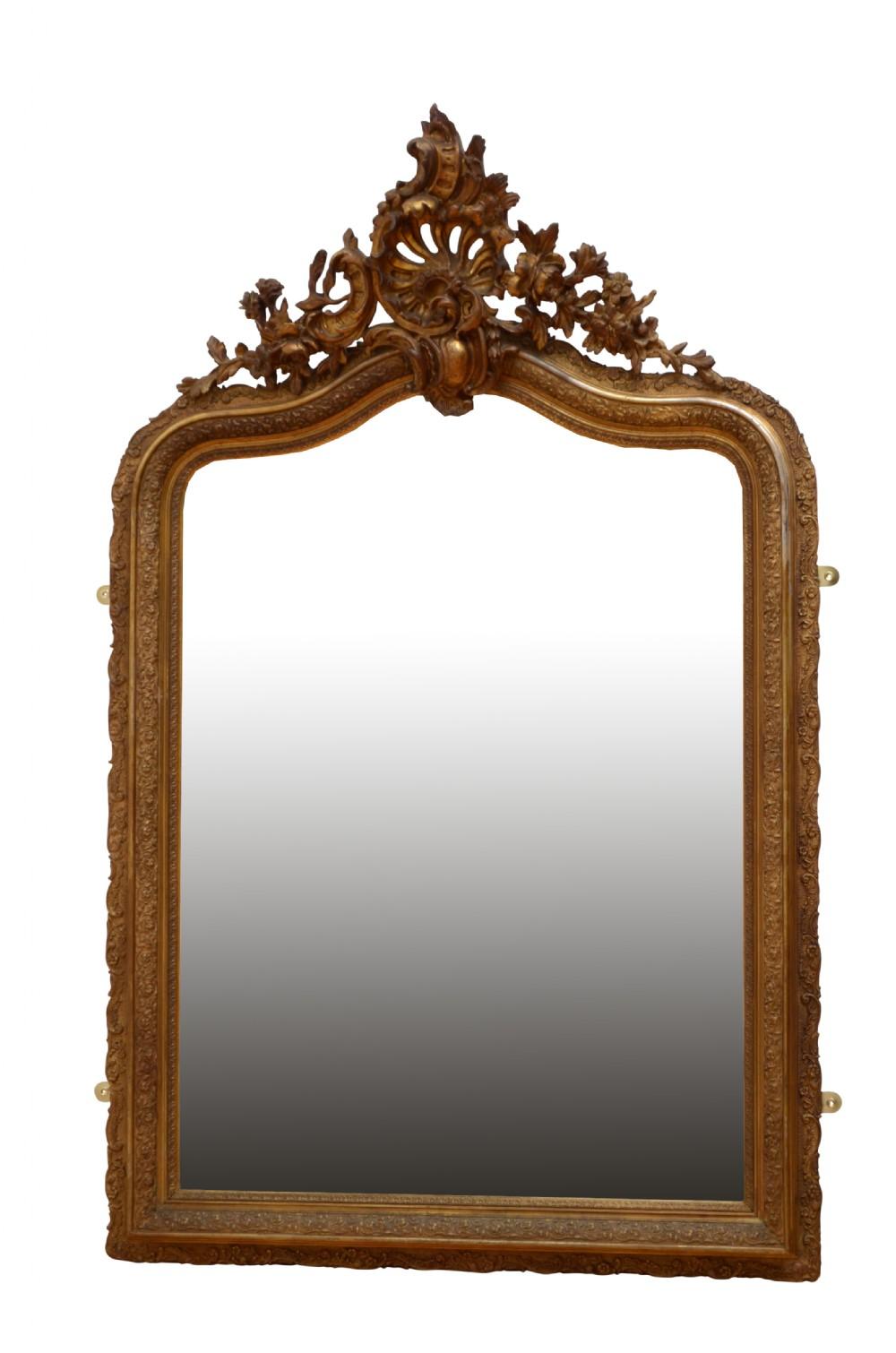 elaborate xixth century giltwood mirror