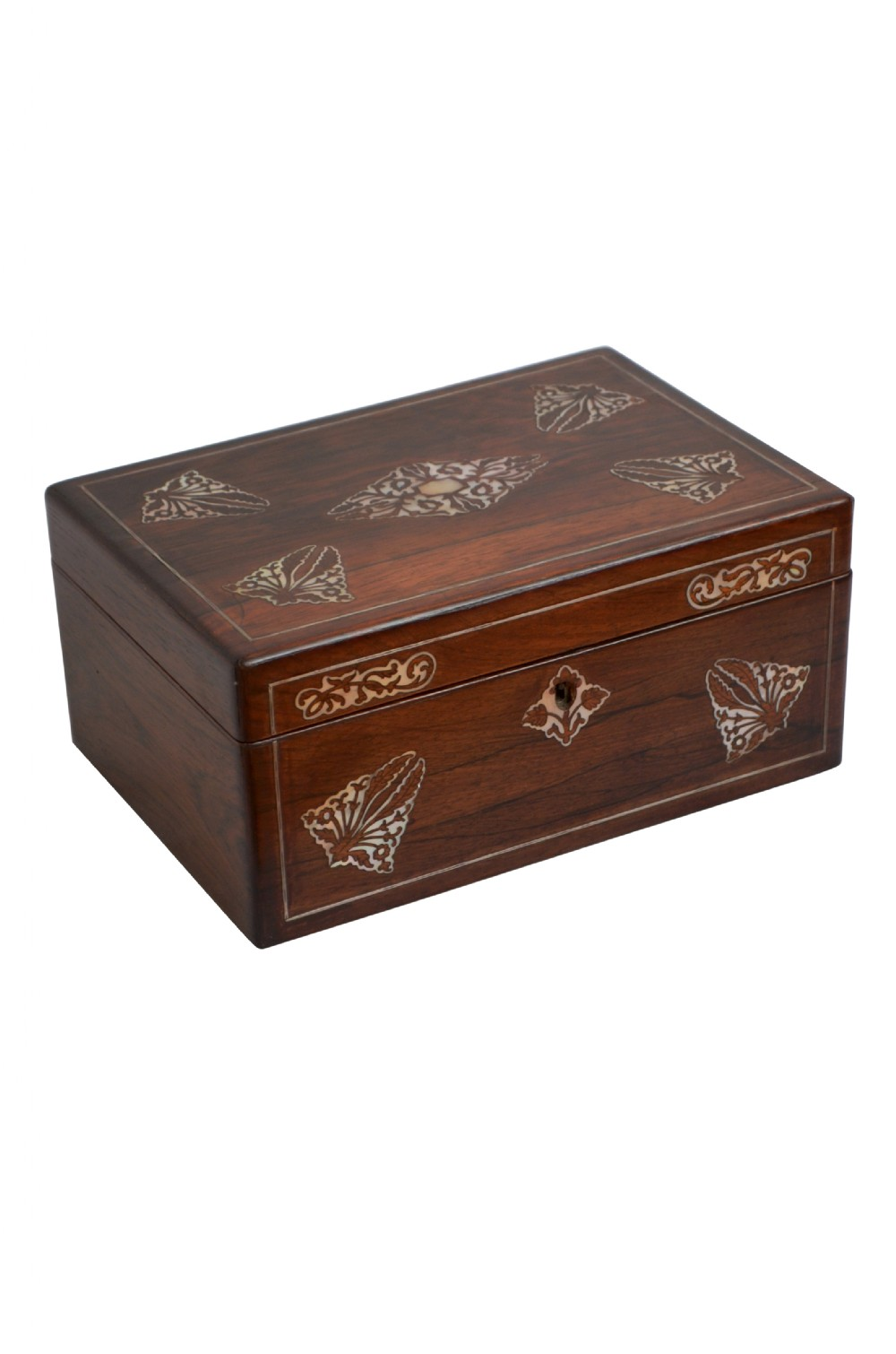 elegant early victorian jewellery box with tray