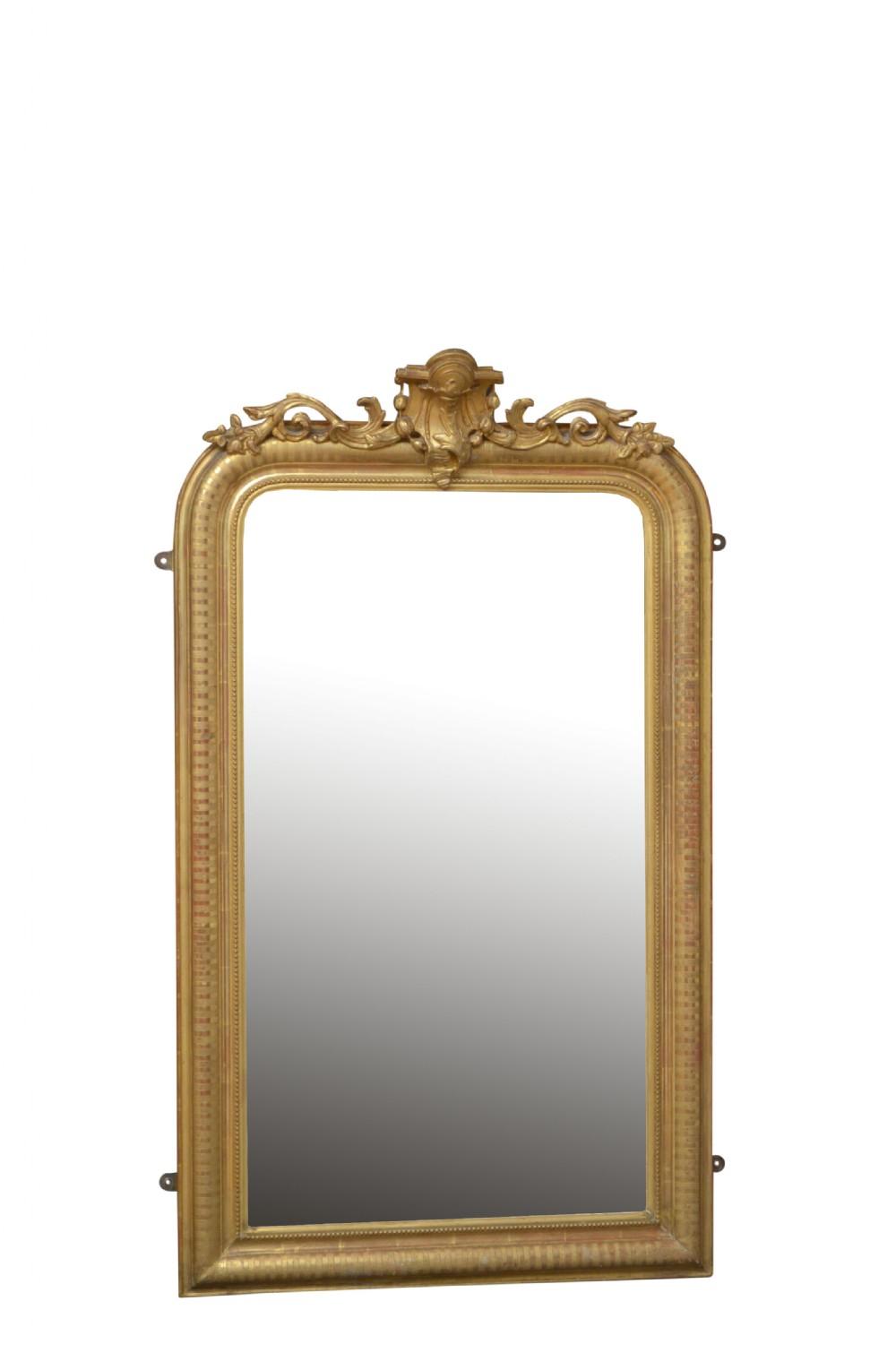 19th century louis philippe giltwood pier mirror