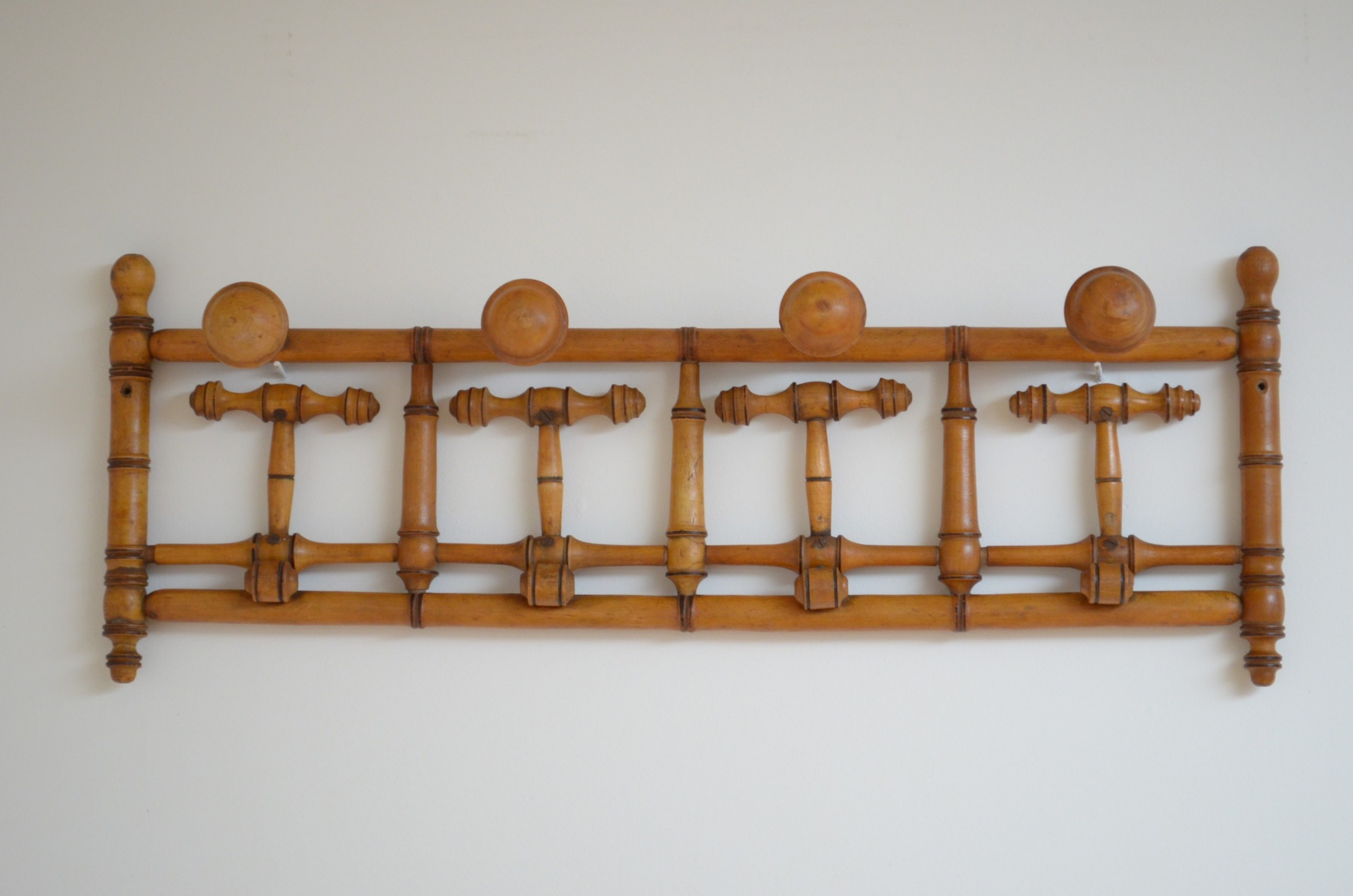 unusual french faux bamboo coat hooks