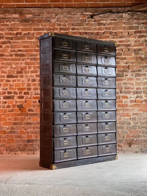 french industrial steel cabinet by straforforges de strasbourg circa 1920