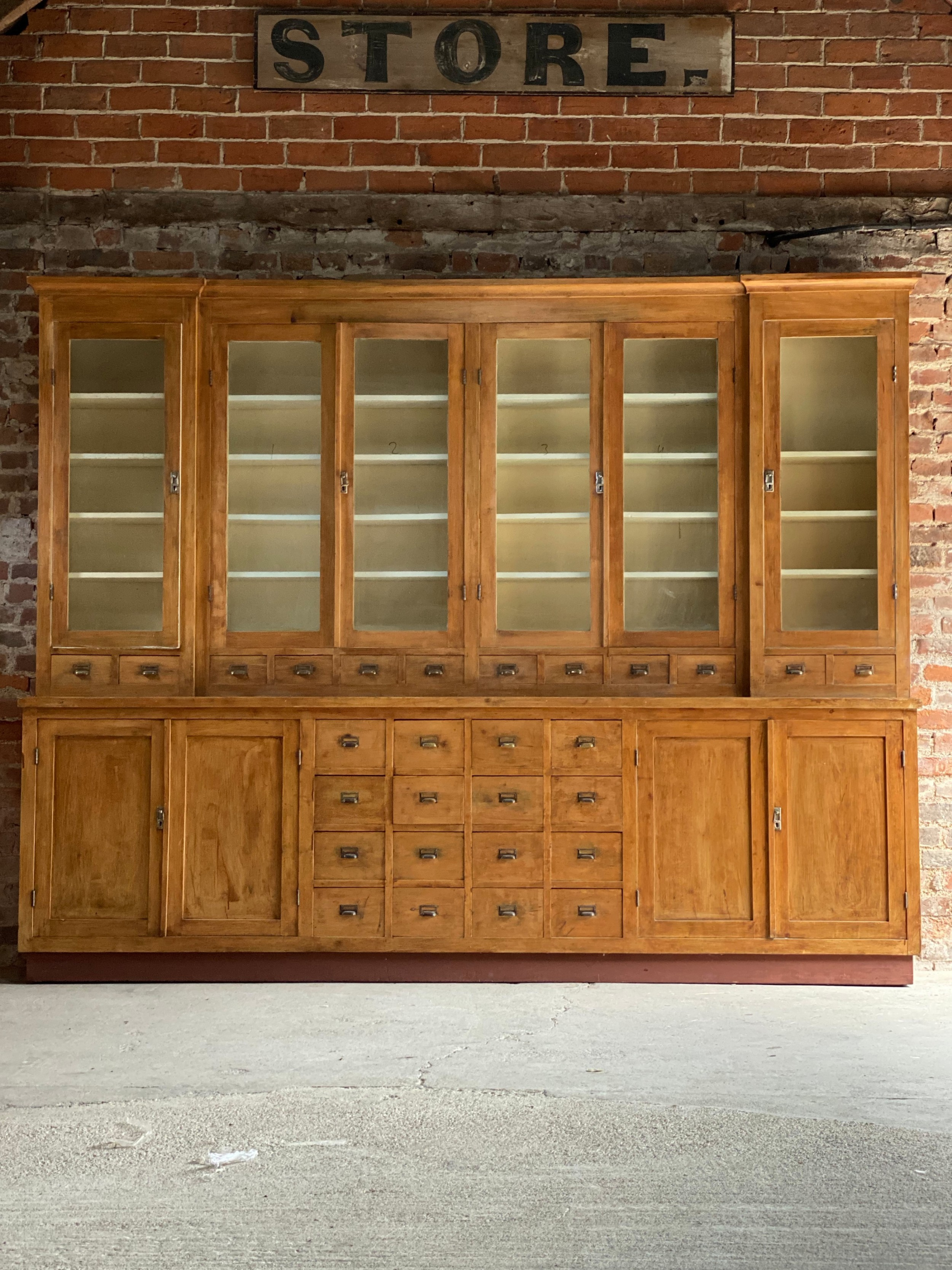 large apothecary display cabinet circa 1920s number 3