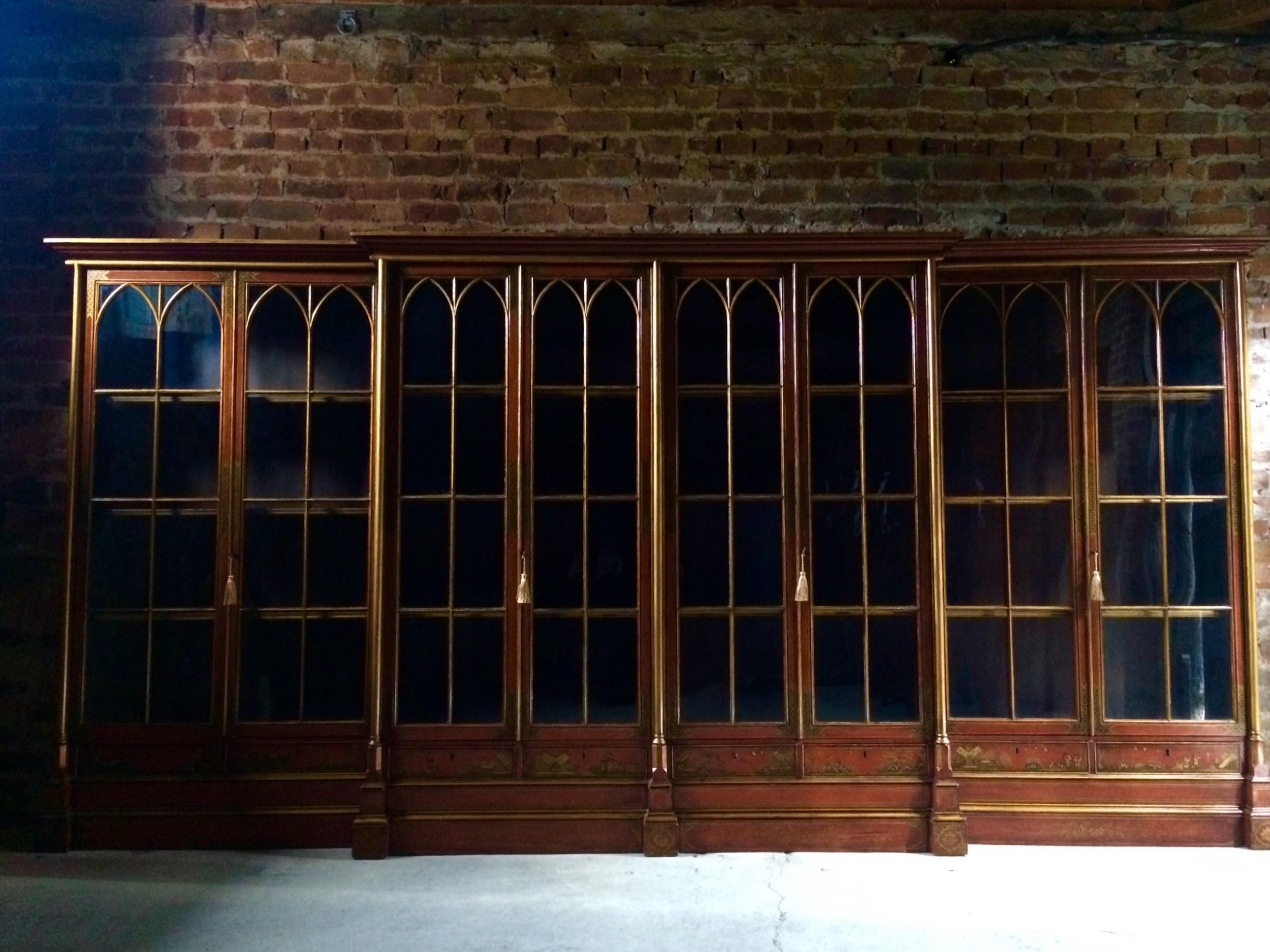 unique george iii library bookcase from oxford college circa 1820