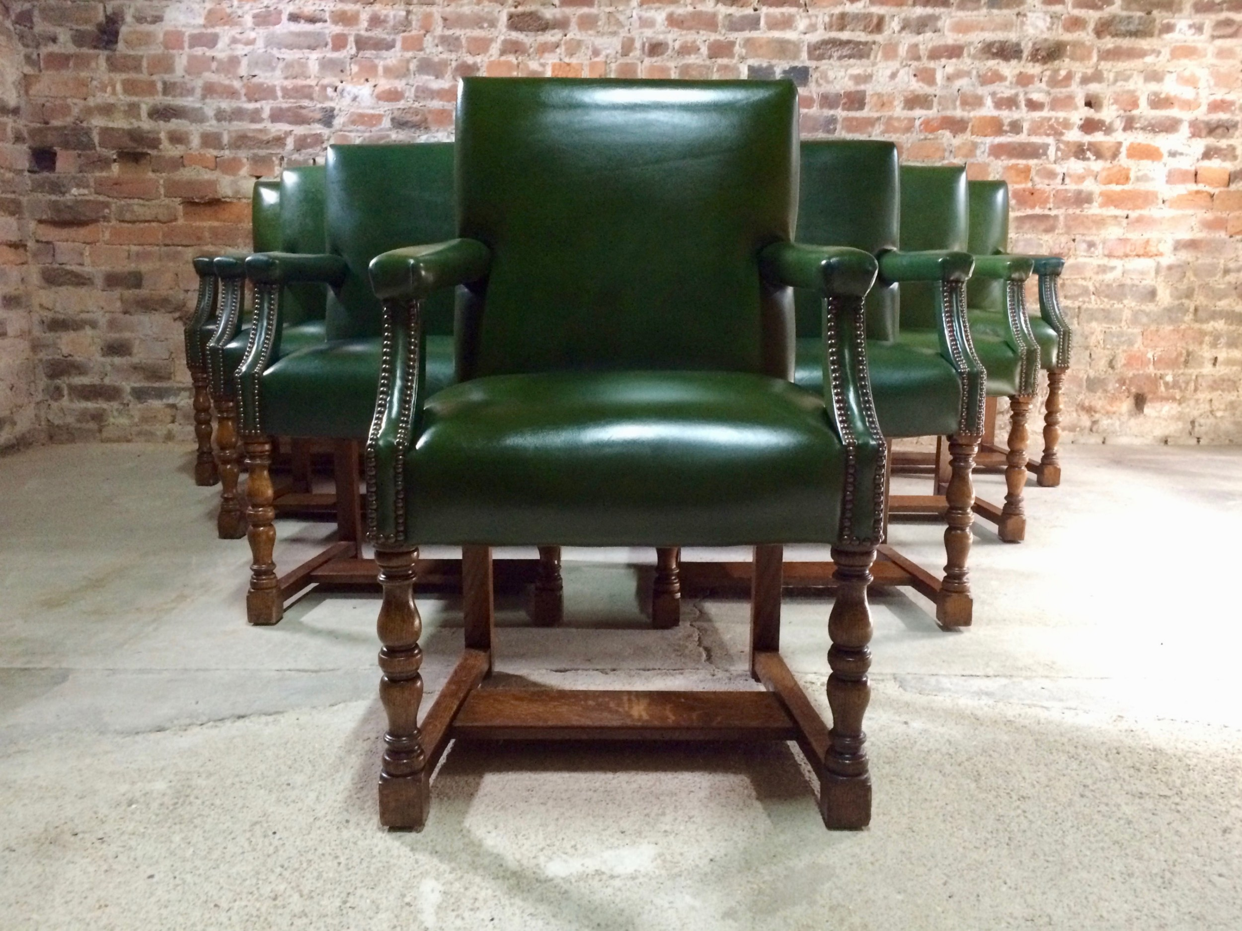 howard sons gainsborough armchairs set of eleven circa 1890 victorian 19th century