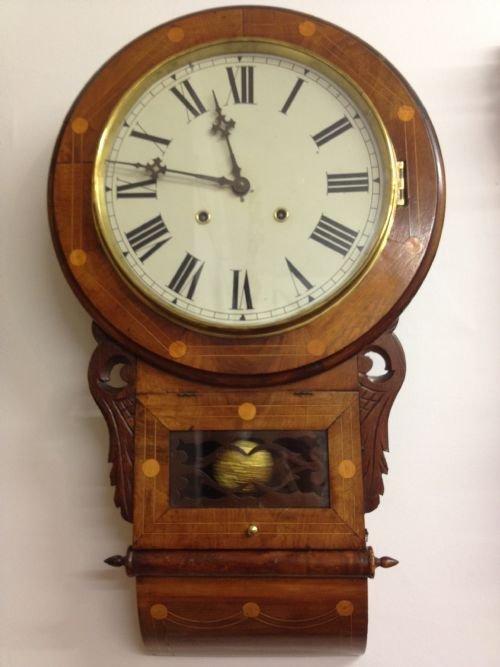 American Inlaid Drop Dial Wall Clock 173045