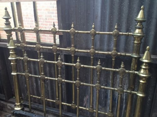super quality 4' 6 victorian brass bed - photo angle #3