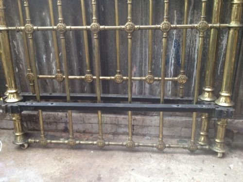 super quality 4' 6 victorian brass bed - photo angle #4