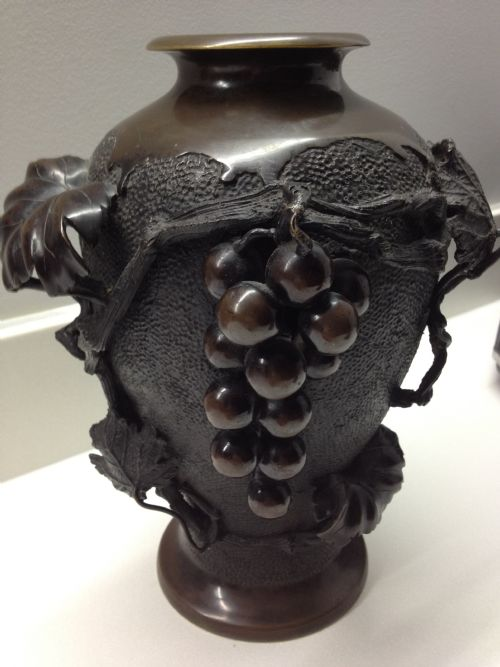 Superb Quality Japanese Bronze Vase Meiji Period 1868 1912 192427