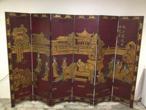 japanese 6 fold screen room divider 212067 sellingantiques co uk