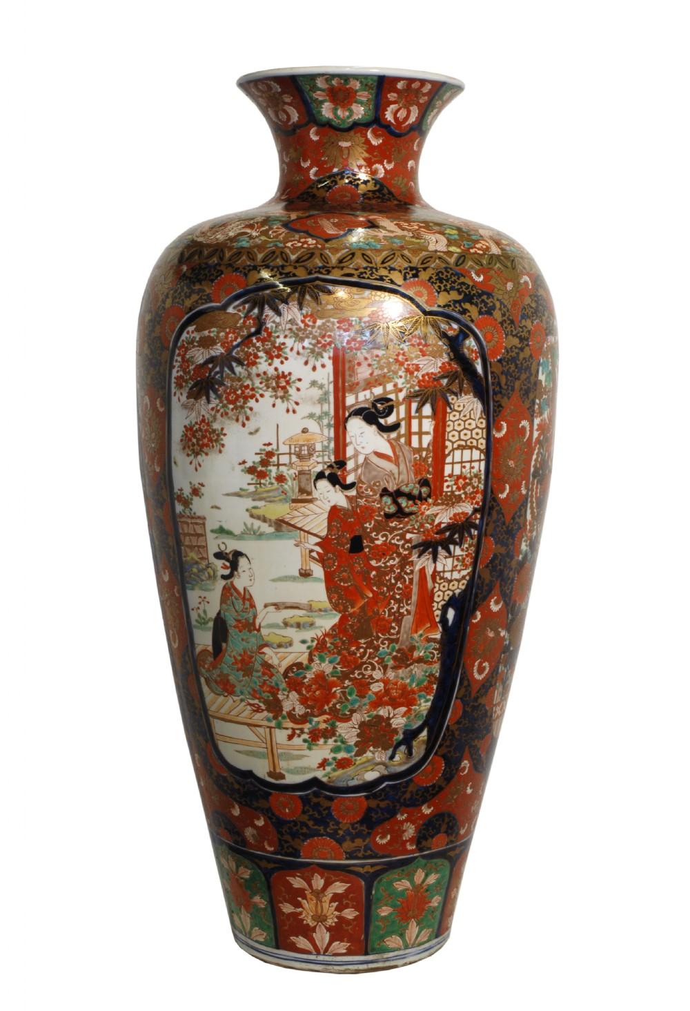 Huge 19th Century Japanese Imari Floor Vase 298258