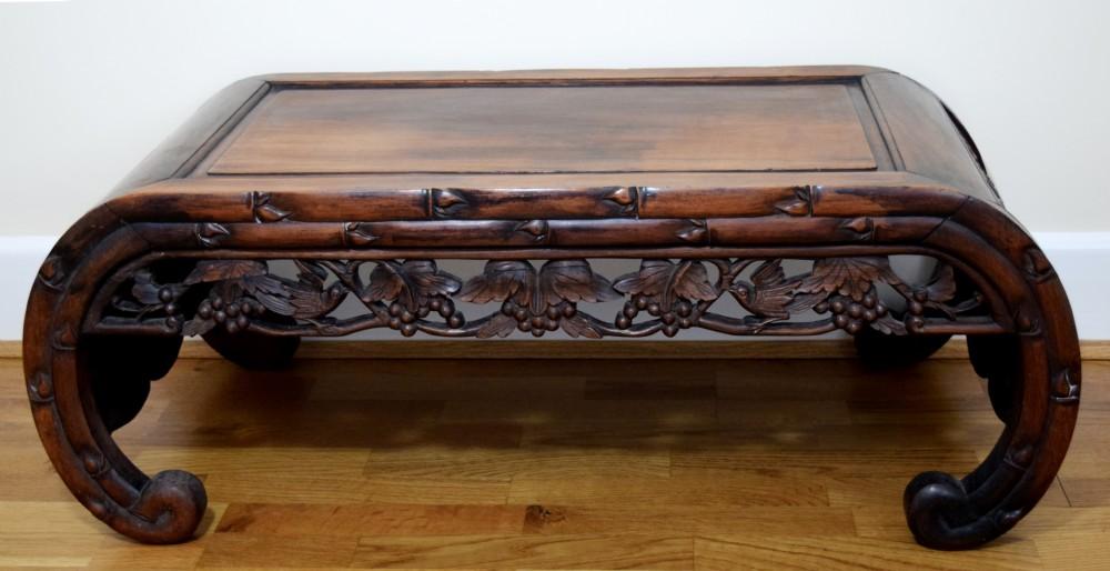19th Century Chinese Hardwood Kang Coffee Table