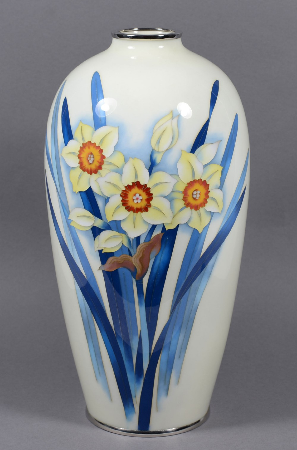 japanese cloisonne vase by the ando company