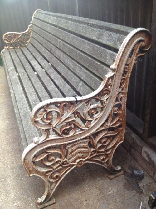 Welsh Victorian Cast Iron Garden Bench 152888