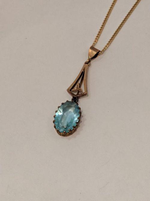 vintage blue topaz necklace
