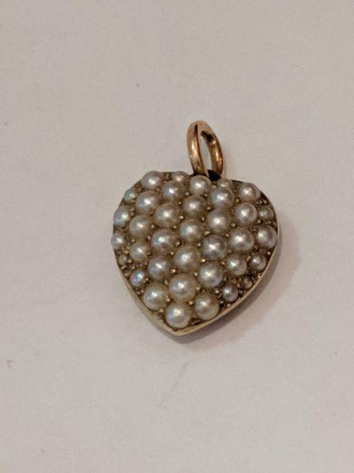 victorian seed pearl pendant