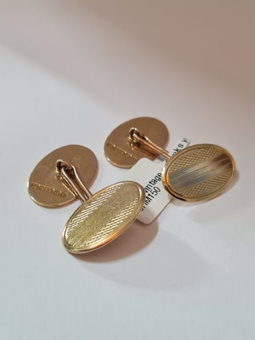 15ct solid gold cufflinks dated 1864