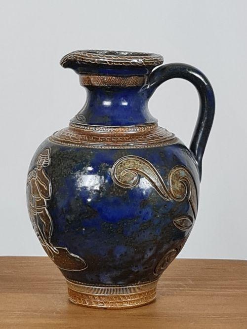 antique decorative stoneware jug