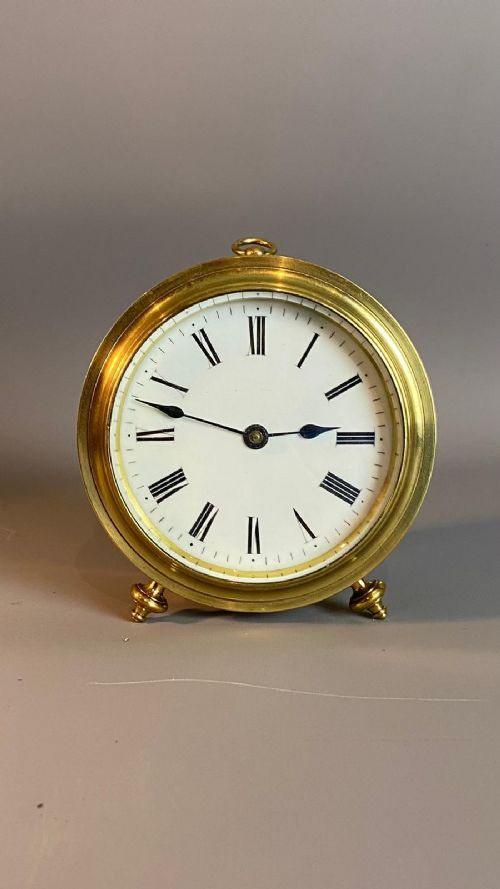 french fusee drum clock with rare plane escapement