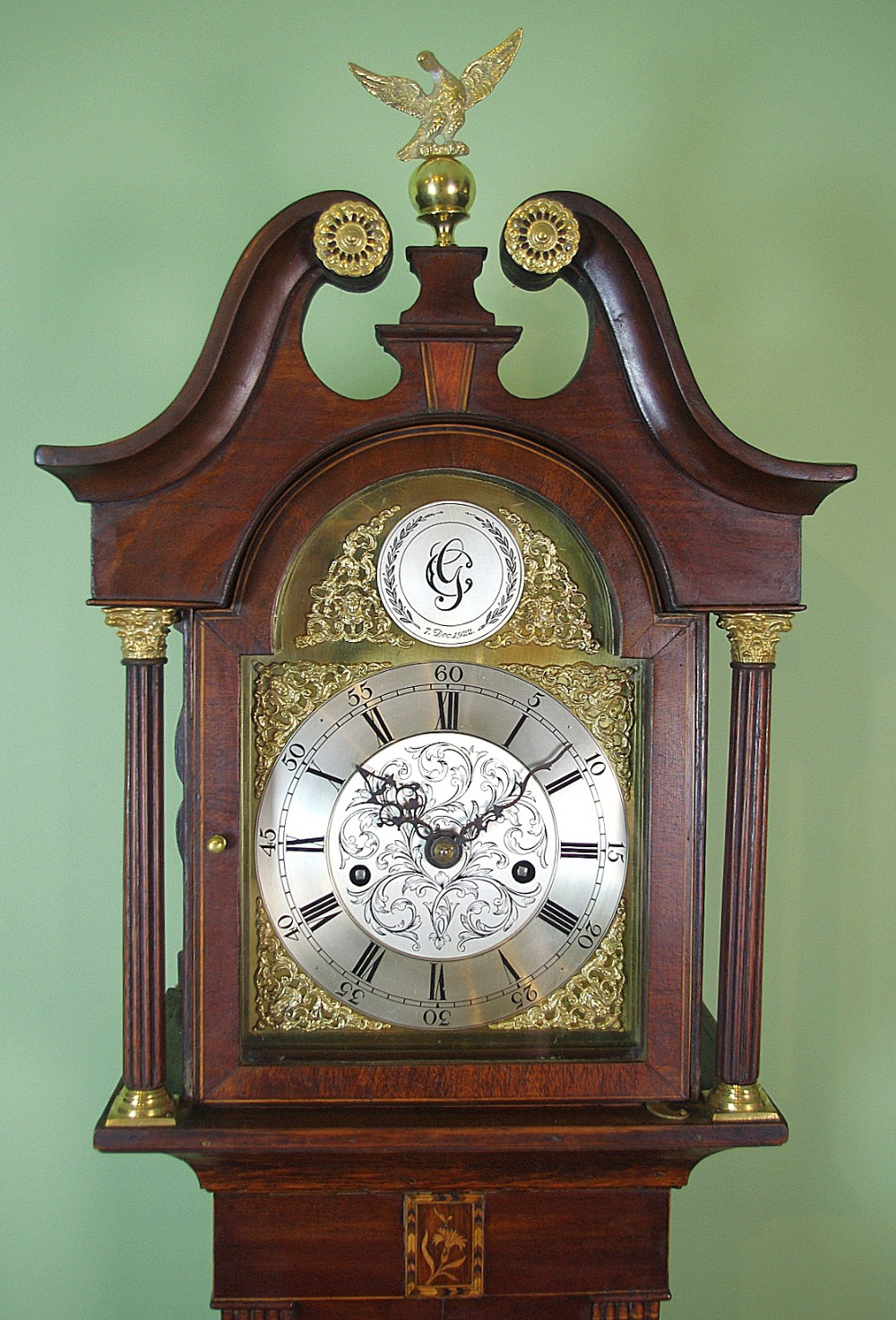 grandmother clock longcase small size weight driven